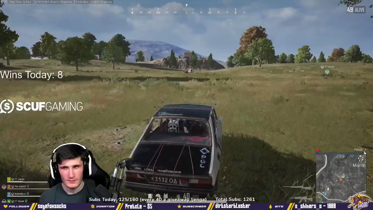 GaGOD - The level of disrespect to be doing this in ranked! 😆  LIVE NOW!   #PUBG #twitch #ranked
