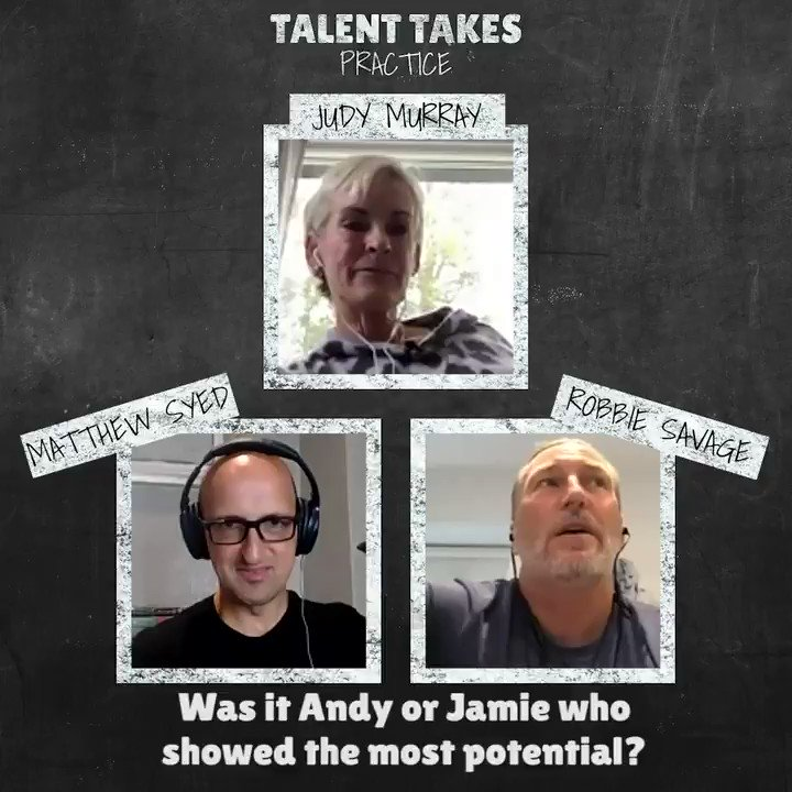 What was it like raising two budding  professional tennis players? 🏆 @JudyMurray tells #TalentTakesPractice about the balancing act & sacrifices needed to give @andy_murray & @jamie_murray the best chance to excel!   🎧