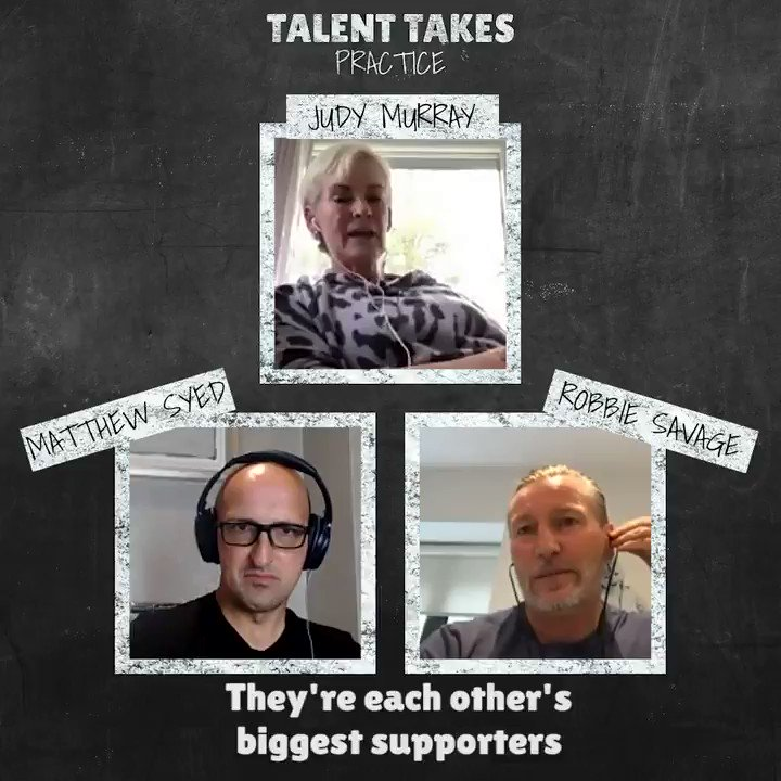 A new #TalentTakesPractice Podcast is out now!   The brilliant and funny @JudyMurray joins @RobbieSavage8 & @matthewsyed   She talks about her experience parenting @jamie_murray & @andy_murray , tennis coaching & beating Rob at Strictly! 😉  Listen here: