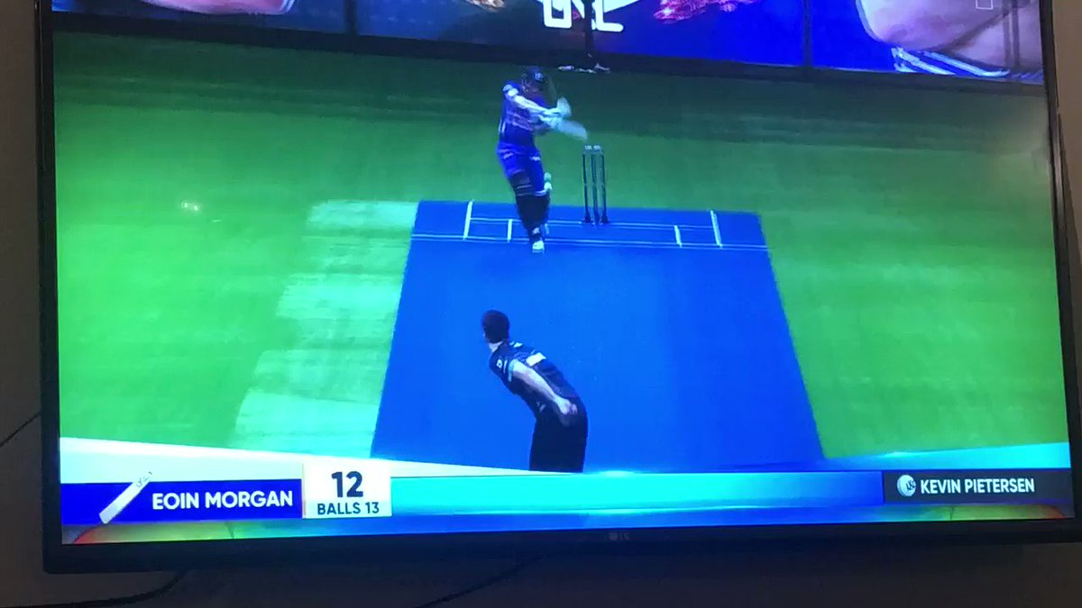 Just watching Ultimate Kricket Challenge which described as one on one cage cricket. Weirdly really enjoying it 😀🏏