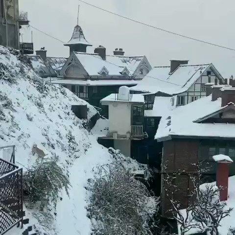 #snowfall #himachal #kasol #kullumanali #tosh #natureontop #winter