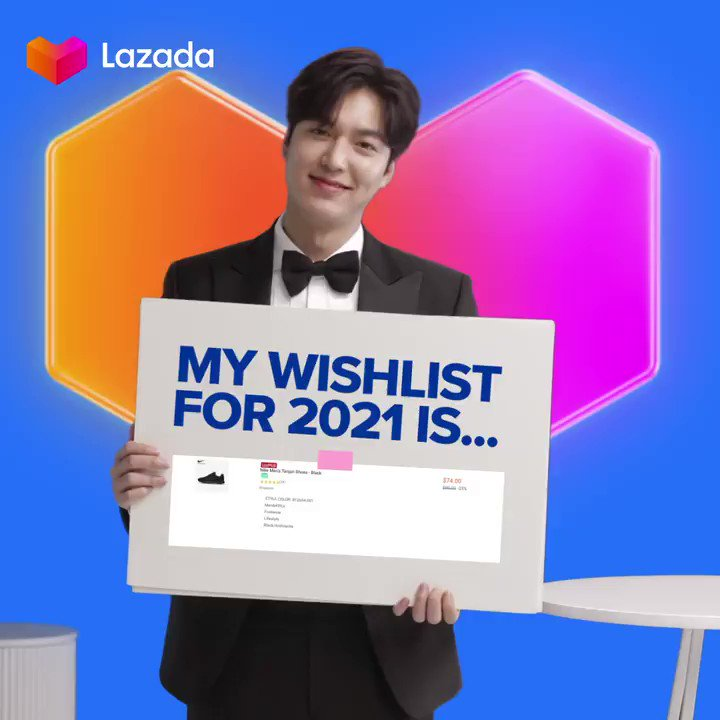 Here's an encouragement from @ActorLeeMinHo: 2021 is your year! 💙 Tell us (and this oppa!) what's on your wishlist to achieve your goals. #LazadaxLMH #LeeMinHo #LazadaPH