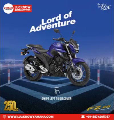 Even the freedom to be adventurous comes with a sense of responsibility. A compact streetfighter body that is not just designed to impress but express. #FZS25 Call Us📲:- For service:6388969783,8887745449 For sales: 8948433111 For spare: 9670419111 #Yamaha #YamahaIndia #Lucknow