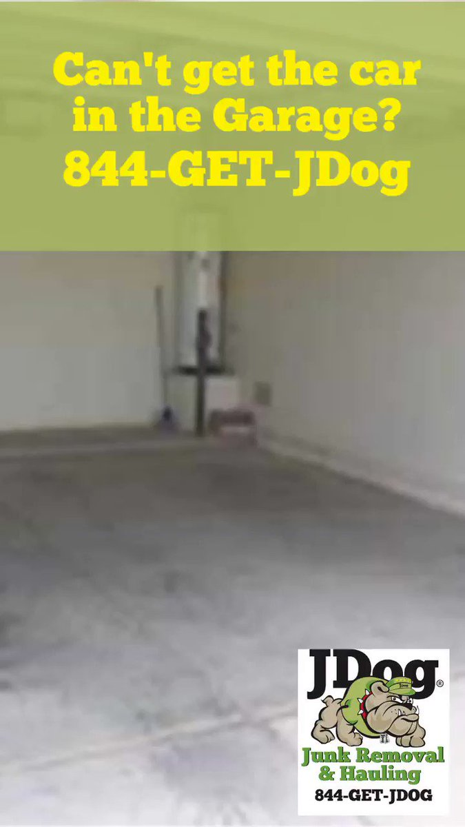 We clean out garages so you can park the car inside when the weather is bad! Call 844-GET-JDog. Park in your garage today! #garage #jdog