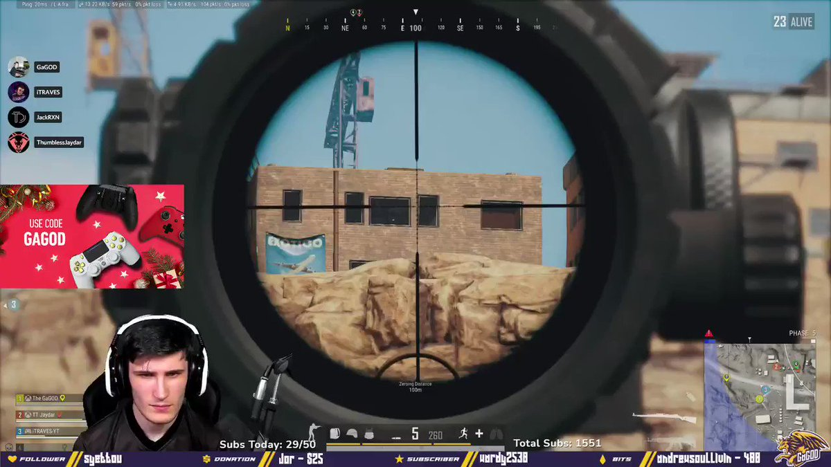 GaGOD - Dont peek! Cause i aint missin! 🎯  Live now with more PUBG! 🔥   #PUBG