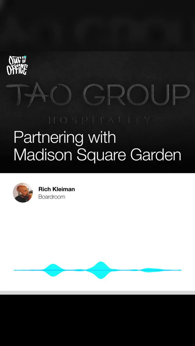 NEW #OutofOffice: TAO Group co-founder @JasonStrauss joins @richkleiman to discuss his hospitality business w/Noah Tepperberg, how launching Marquee in NYC changed the industry, & the future of their partnership with MSG. Listen/subscribe 🎙️: https://t.co/fTysZTjDrZ https://t.co/43v9FcJIp4