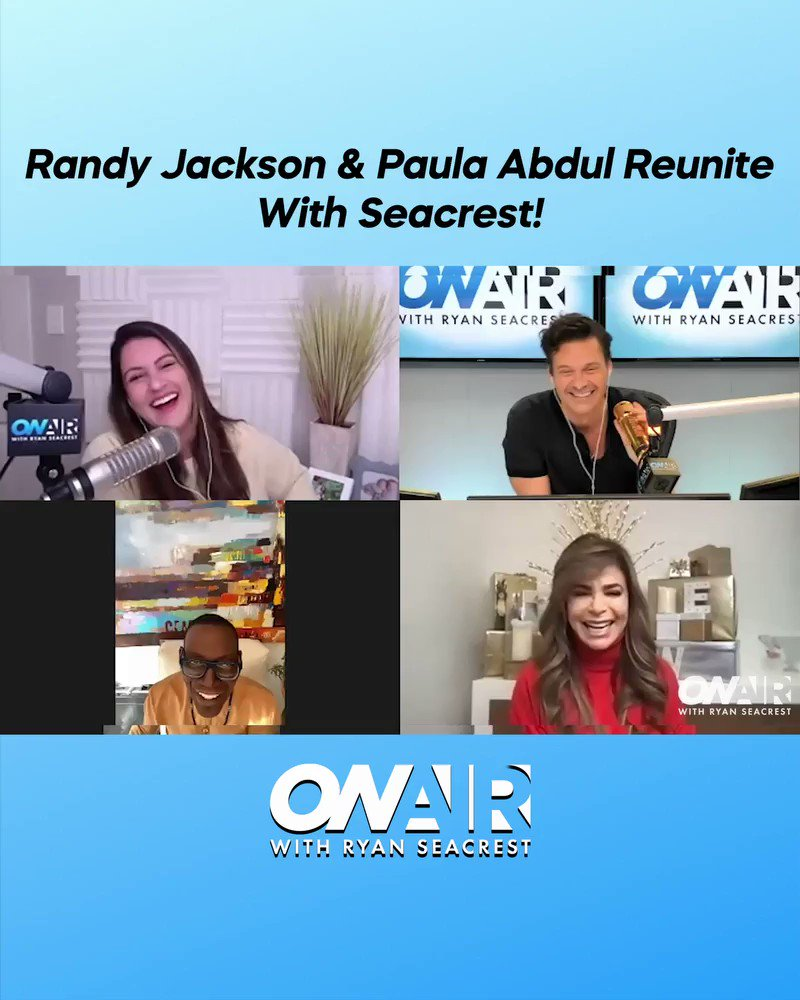 Is that you, #SimonCowell?! 😂  Relive @RyanSeacrest's reunion with #AmericanIdol alums #PaulaAbdul and #RandyJackson: