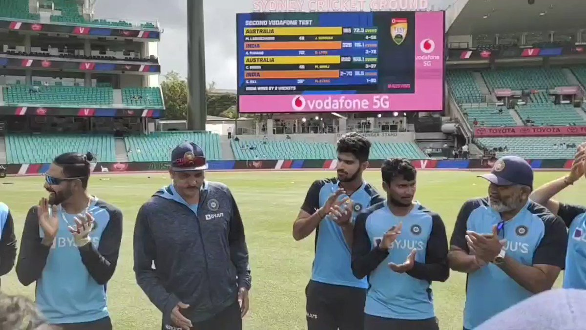 Congratulations @navdeepsaini96. He realises his dream of playing Test cricket for #TeamIndia today. A proud holder of 🧢 299 and he receives it from @Jaspritbumrah93. #AUSvIND