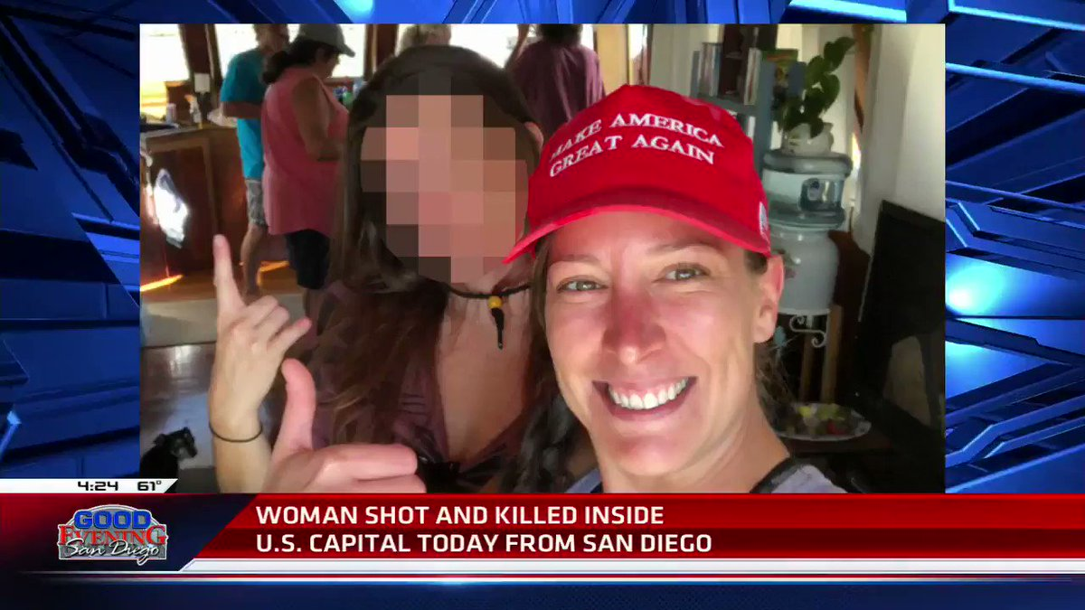 This is the woman who was shot and killed in the Capitol today.