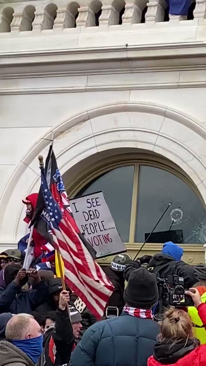Stop listening to MSM lies. I was there in DC. Antifa started to break windows but stops by Trump supporters.