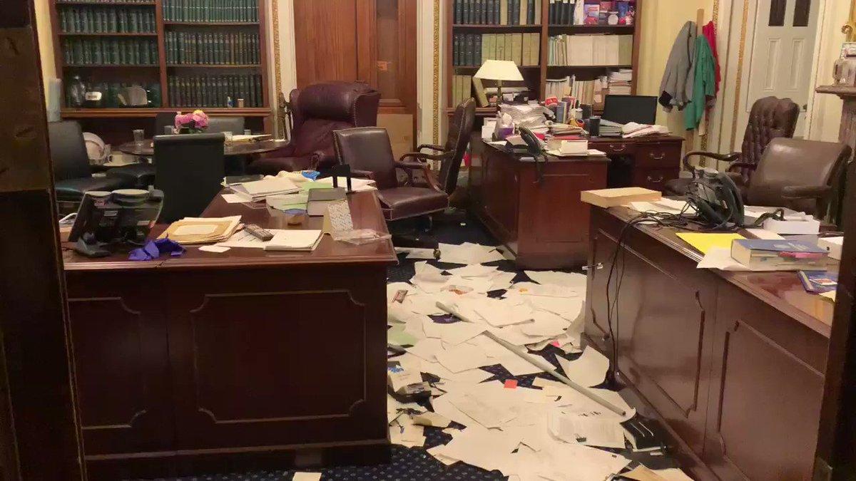 Replying to @alizaslav: The ransacked office of the Senate Parliamentarian:
