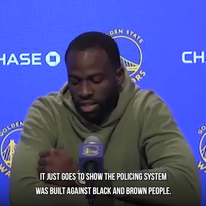 "Replying to @SamHustis: ""They're not fucking protesters, they fucking terrorists.""  -Draymond Green"