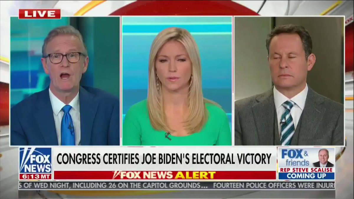 """Ainsley Earhardt, who has been offering weird apologia for Trump all morning, says she hopes Trump """"forgive"""" Mike Pence for not trying to overthrow the election for him"""