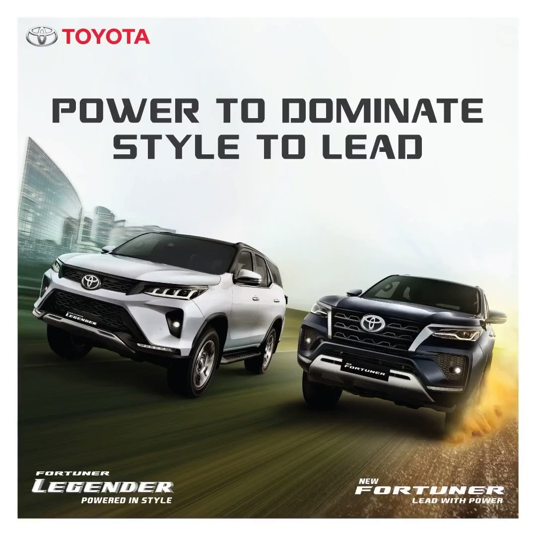 The new Legender and Fortuner has everything you want. Power-packed engine, connectivity features, plush seating and 8.0 touchscreen audio are just some of them.  Visit: https://t.co/0BFxesvXwo   #PoweredInStyle #PowerToLead #NewFortuner #FortunerLegender #Toyota #ToyotaIndia https://t.co/GOKhBQKS0u