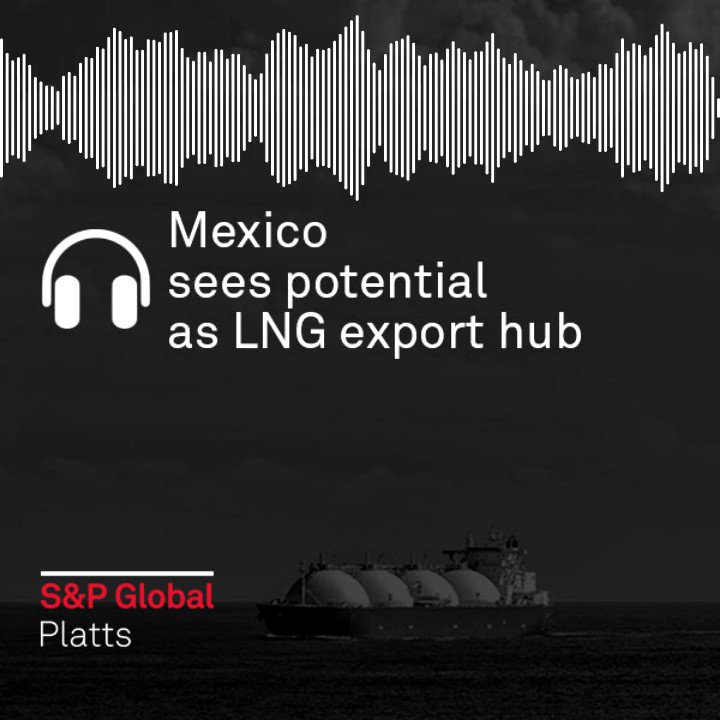 As the world economy begins to recover from the pandemic, Mexico is considering the construction of an #LNG export terminal in the port of Salina Cruz to use excess  #natgas in the country.   Listen here (15:07): https://t.co/gbfDu9GKiz https://t.co/RPOEMEuBLx