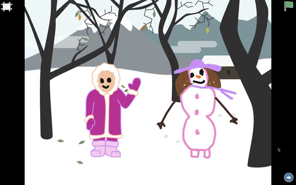 Why we always say snowman, not snowwoman or snowgirl? If you are also thinking the same then you are going to enjoy this 'Snowgirl at Night'.   @ScratchJr @NahaniWayPS  @peel21st @EmilyGeber @codeorg #CSEdWeek #HourOfCode @CSforCA #teachcode #SNOW #snowart #snowman