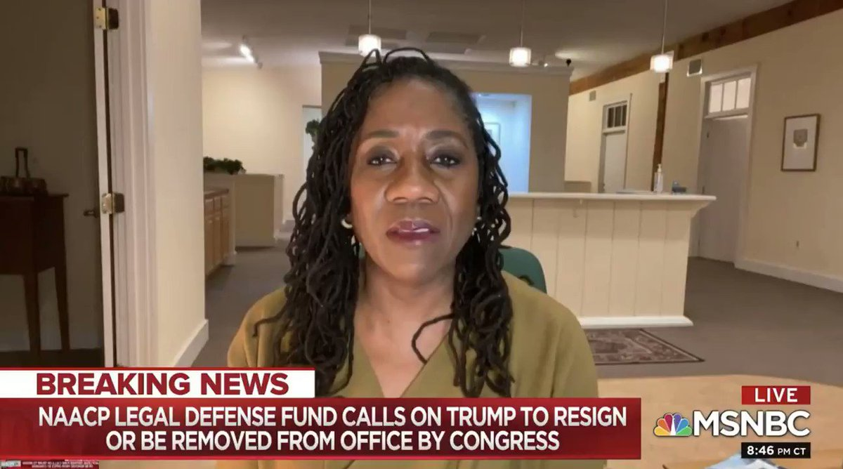 """""""There has to be individual accountability for these actions, without question...But there are many people not on camera who also bear responsibility for what this nation has been brought to...They are the people who have...championed the thuggery of Donald Trump."""" --@Sifill_LDF"""