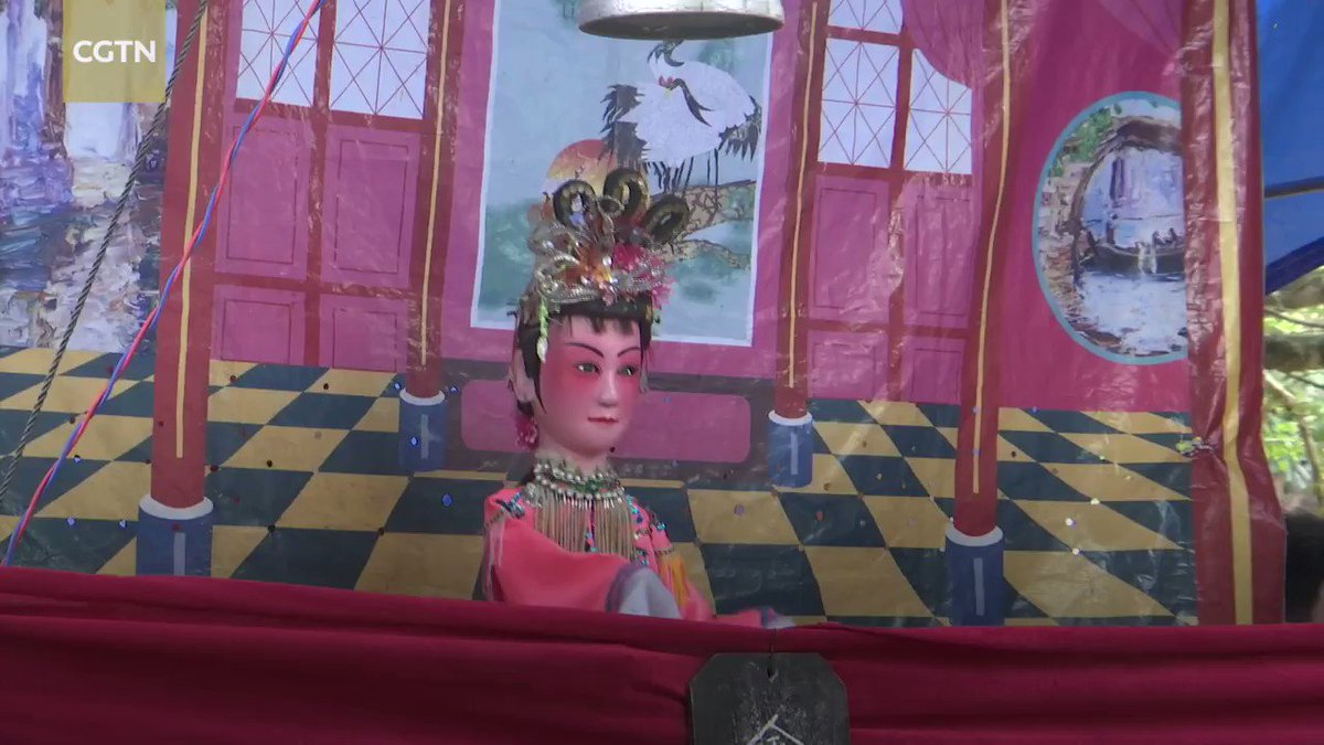 Wenchang Doll Opera, or Wenchang puppetry, has been around for over 600 years, longer than Qiong Opera, the most iconic opera in China's southern Hainan Province where both their roots are. #opera #GoHainan