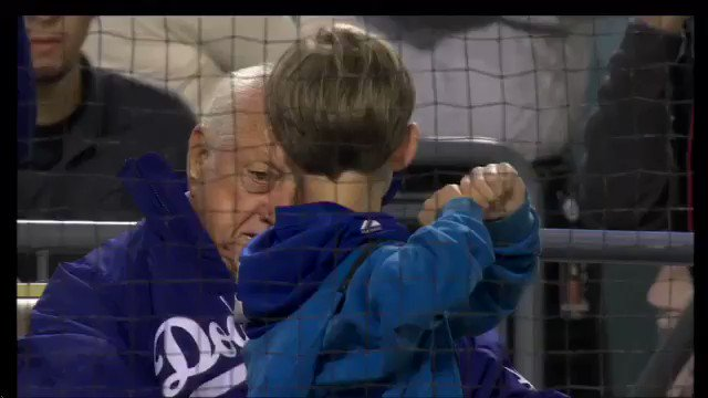 Tommy Lasorda was a legendary baseball figure who will be greatly missed. Here he is offering batting instructions to my son Jack who, two weeks later, quit little league. #RIPTommyLasorda