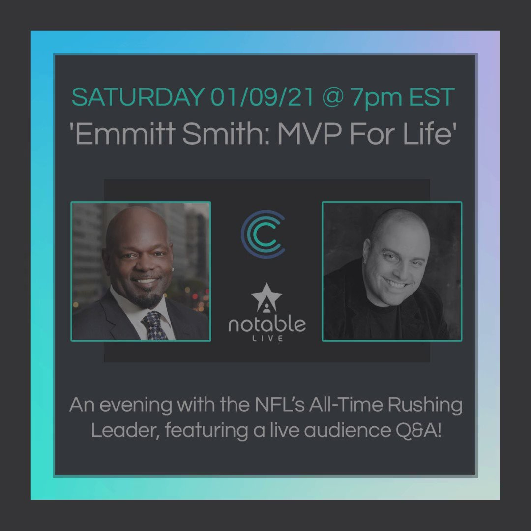 Ready for #NFLPlayoffs tomorrow? I know I am! Hop over between the action to @notable_live at 7:00pm ET for my @CollectableApp event. Spaces are limited, so register now at ! I can't wait to talk with y'all and hang out.