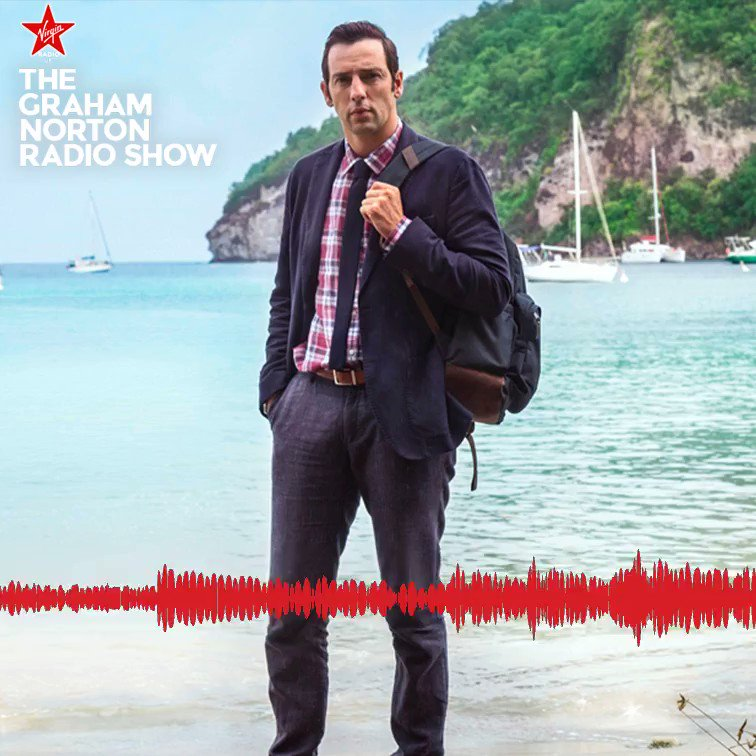 .@RalfLittle plays D.I. Neville Parker in long-running drama #DeathInParadise 📺   It turns out one particular member of the cast isn't too good at keeping secrets...   #TheGrahamNortonRadioShow
