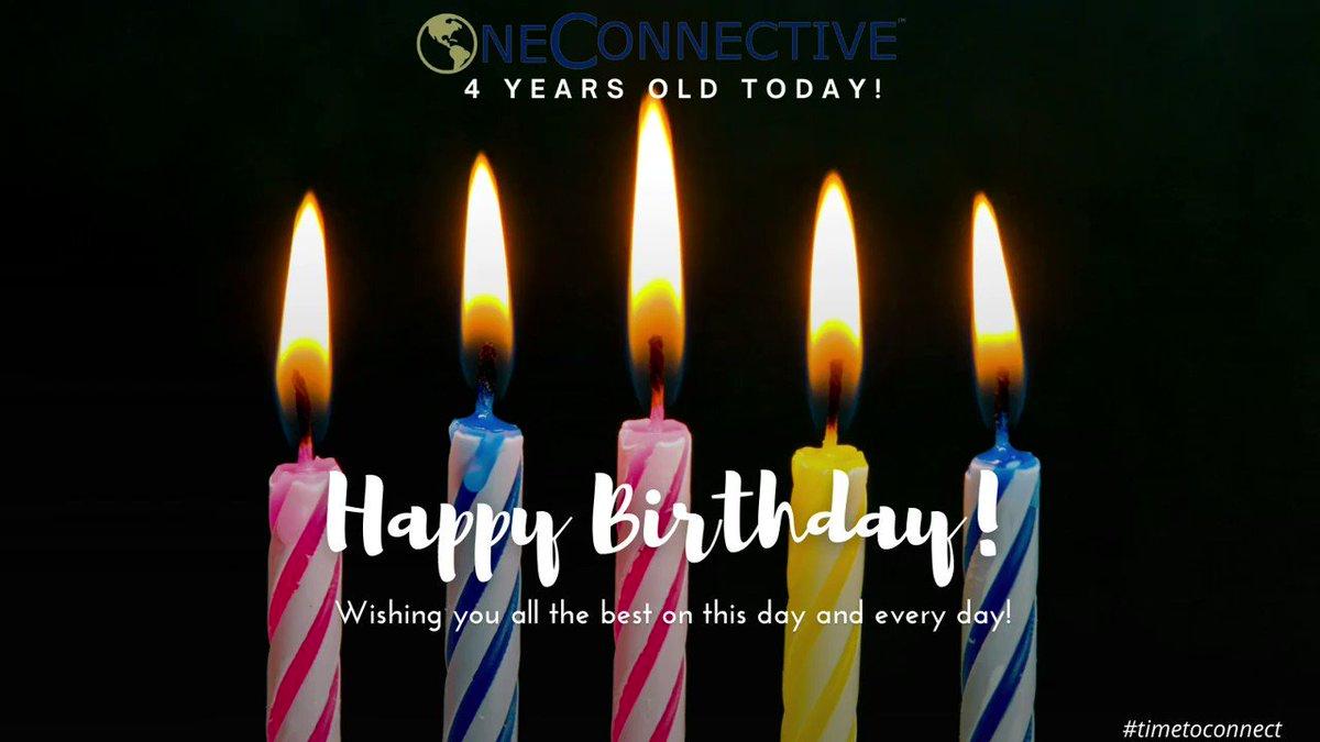Celebrating our 4th Birthday! @OneConnective  #timetoconnect #communications #publicrelations #ir #integratedmarketing #humancapital #executivesearch #marketing #socialmedia