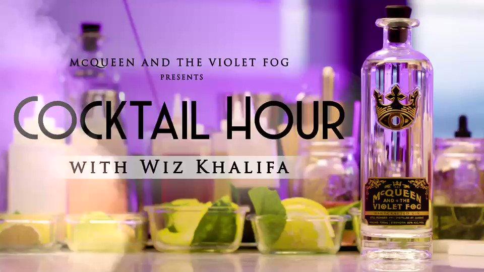 Happy Saturday Night - cocktail time w @wizkhalifa #mcqueensndthevioletfog