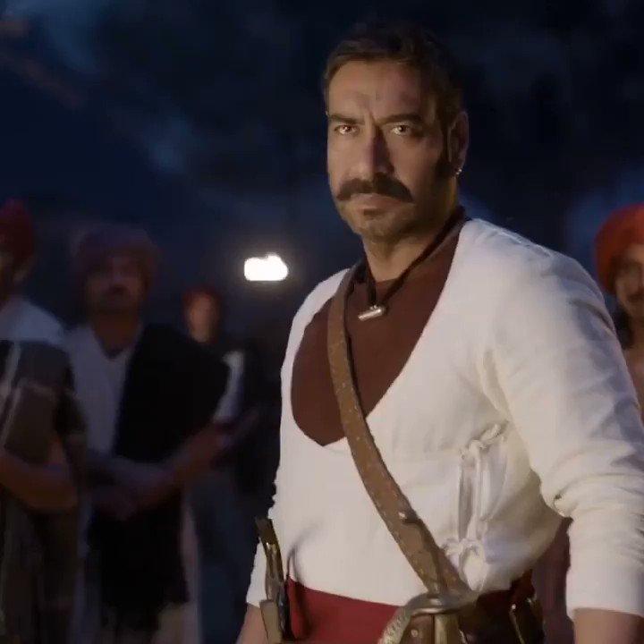 Celebrating 1 year of our heroic film! A film that rocked the box office #1YearOfTanhaji @ajaydevgn#BhushanKumar @Tseries @itsKajolID #SaifAliKhan @SharadK7 @omraut @KumarMangat @Meena_Iyer #VikrantSharma #DharmendraSharma @NYvfxwala @AAFilmsIndia @AjayDevgnFilms