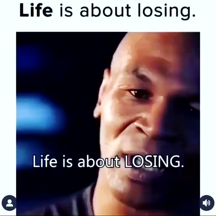 Life is about losing... interesting gotta listen to understand that notion.. @MikeTyson spitting facts 💯