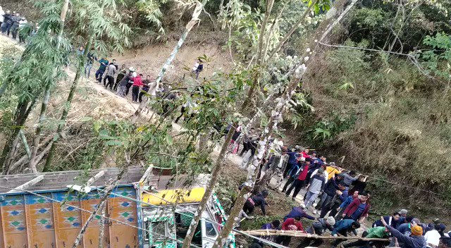 In a village in Nagaland (not yet identified) the entire community pulls up a truck which fell off the road with ropes & the spirit of unity!   More information awaited! As received on WhatsApp!