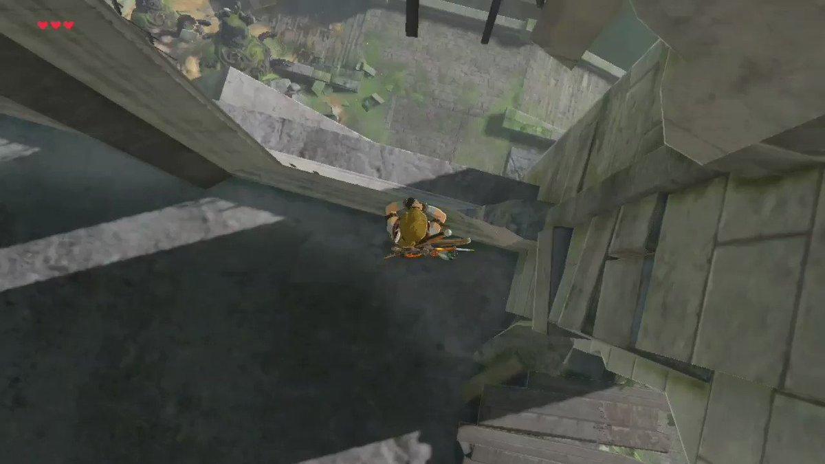 BtB trick shot  始まりの台地から1400m離れたガーディアンを狙撃  #ゼルダの伝説 #BreathoftheWild #NintendoSwitch