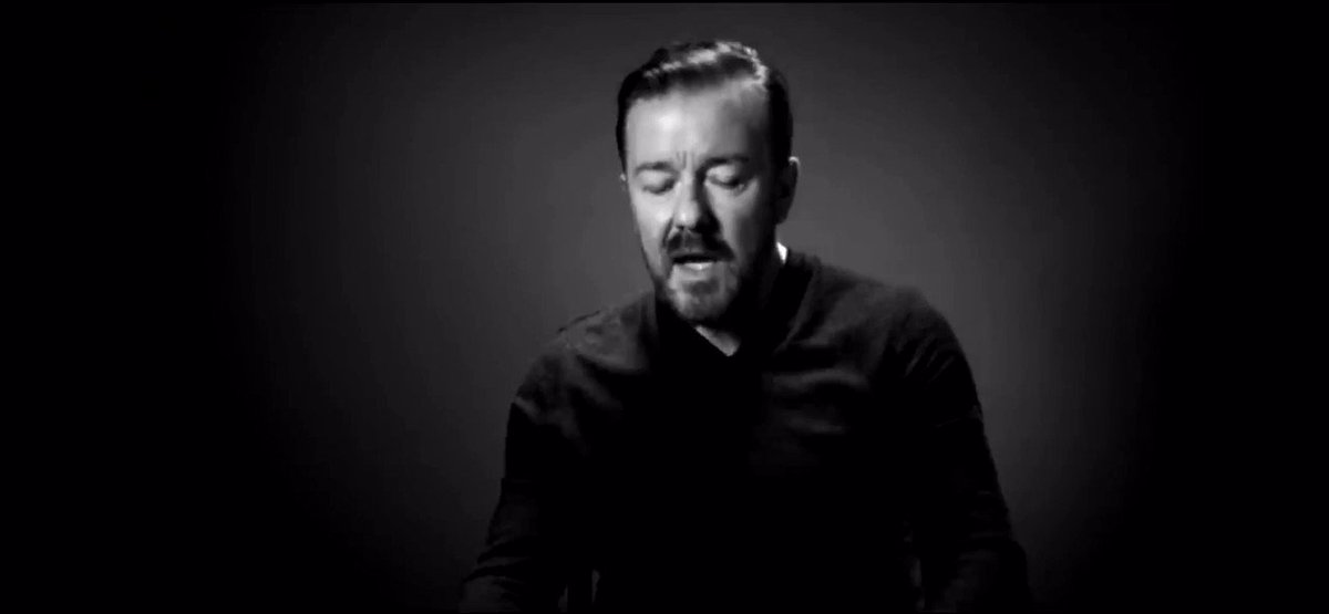 """""""As an atheist, I see nothing 'wrong' in believing in a God. I don't think there is a God, but belief in him does no harm. If it helps you in any way, then that's fine with me. It's when belief starts infringing on other people's rights when it worries me."""" - @rickygervais"""