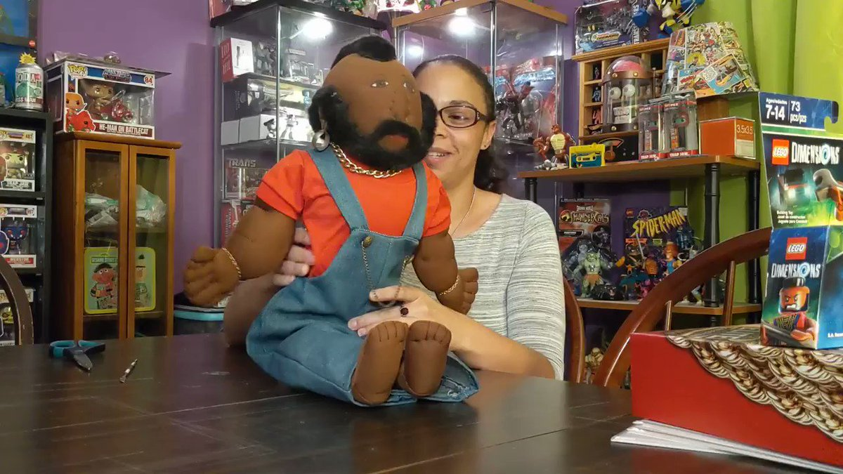 Blerd Girl Toy Talk   @officialipitythefool Mr.T has taken over my life 🤣  Full video link in bio #subscribe to our #youtube #adventure #followme #bestoftheday #Blerd #blerdgirl #toyhunt #geekwife #geekgirl #unboxing #youtuber #mrt #babaracus #ateam #ipittythefool PLS RT