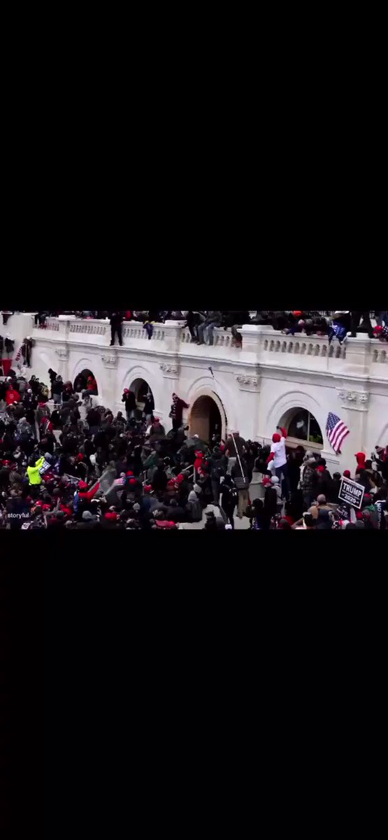Warning: violent video. This footage shows rioters viciously beating police at the Capitol entrance. I hadn't seen this clip, via @Storyful, until now.
