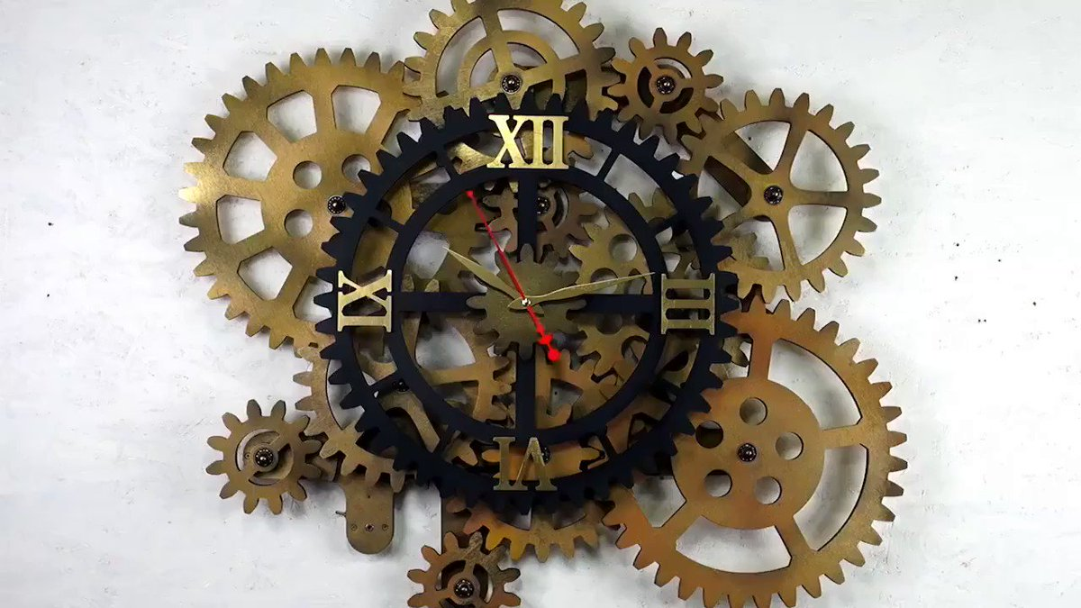 #Design Awesome of the Day ⭐ ➡️ Animated #Steampunk ⚙️ Gears Clock 🕒 via @panah #SamaCuriosities 👀 #SamaDesign ➡️ View More Selections 👉 https://t.co/Kugls3IJqU