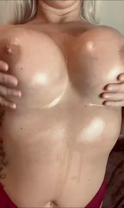 Do you like ... ✔️BIG TITS? ✔️OILED UP BIG TITS? ✔️WANKING?  Of course you do !  Better head over to