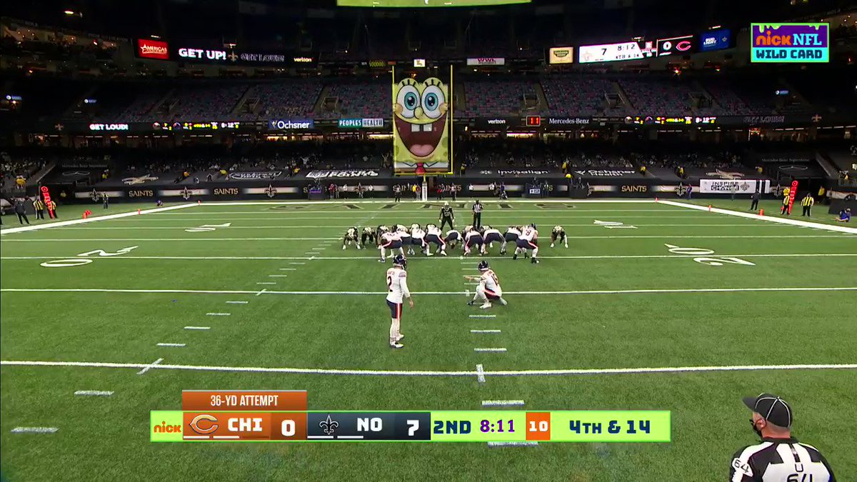 *SpongeBob voice* Just go like thiiiis...spin around STOP double take 3 times. 1,2,3 annnnddd IT'S GOOD FOR THREE!  📺: #CHIvsNO on @Nickelodeon