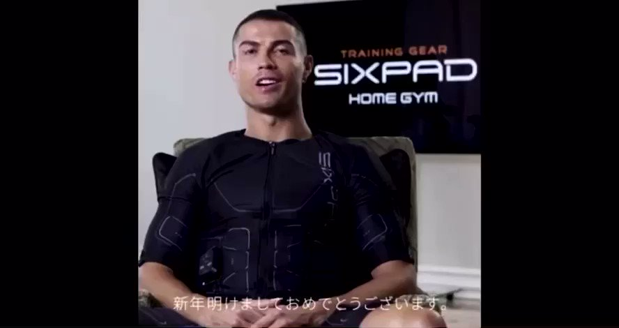 ⁦@Cristiano⁩ A New Year for new beginnings and goals. Let's work hard together to tone our bodies with SIXPAD for 2021. @sixpad_homegym #SIXPADHOMEGYM #SIXPAD