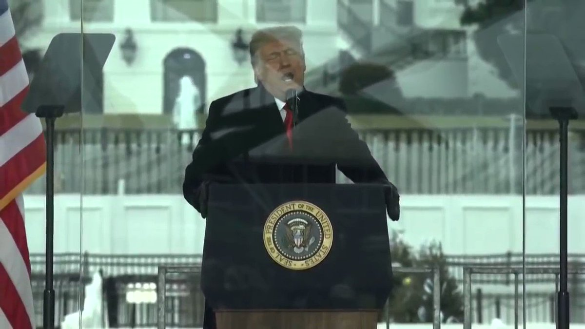 Did any news networks play this segment of the speech today? Any at all?
