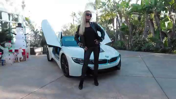 ":@ParisHilton: ""Obsessed with my @BMW #SlivMobile! 😍⚡️🏎⚡️ Such a sick car! 🔥 Just decided I'm going to get the new 2021 #BMWi8, but trying to decide what wrap I should cover it in. Thoughts? 🤔 "" / NY"
