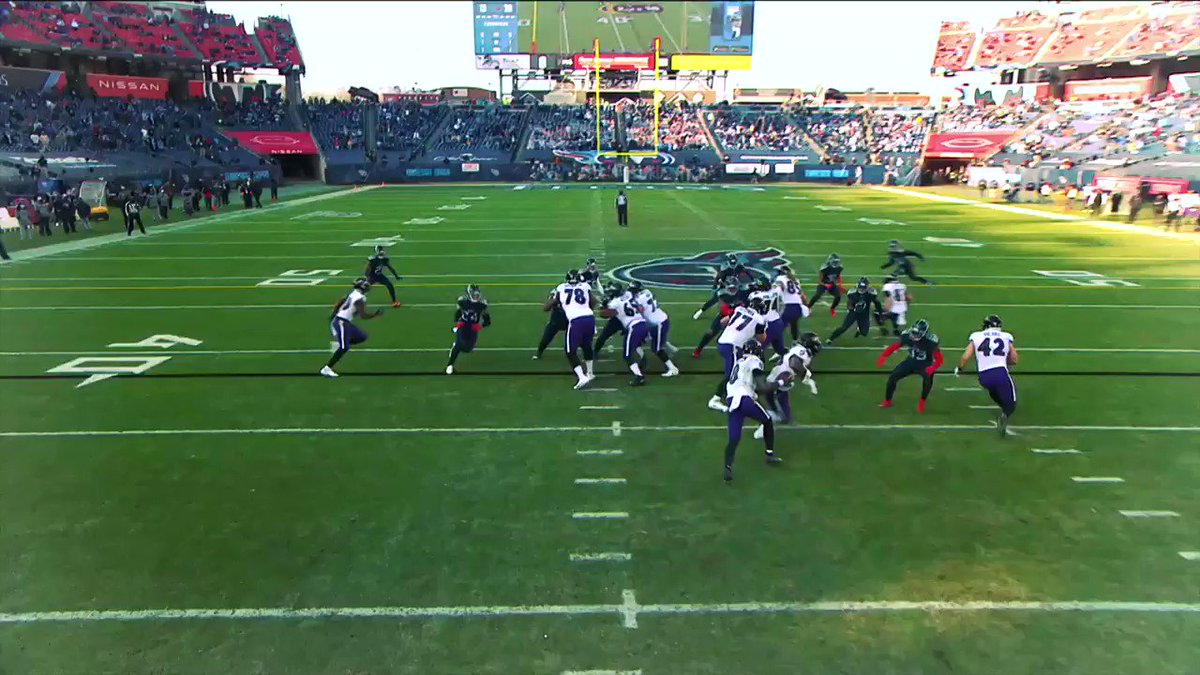 Lamar Jackson earned his first playoff win! Here's how the @ravens defense, offensive presnap motion, and Jackson's 11.5 yards per att on outside runs made the difference: @NextGenStats @nflnetwork #nfl #NextGenStats