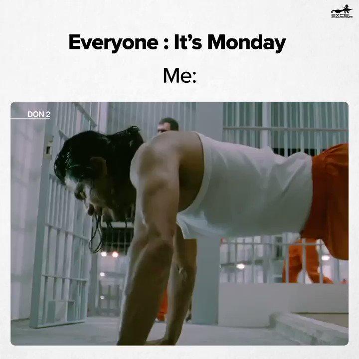 Monday se bachna mushkil hi nahi, namumkin hai  #Don2 #MondayMood #MondayThoughts
