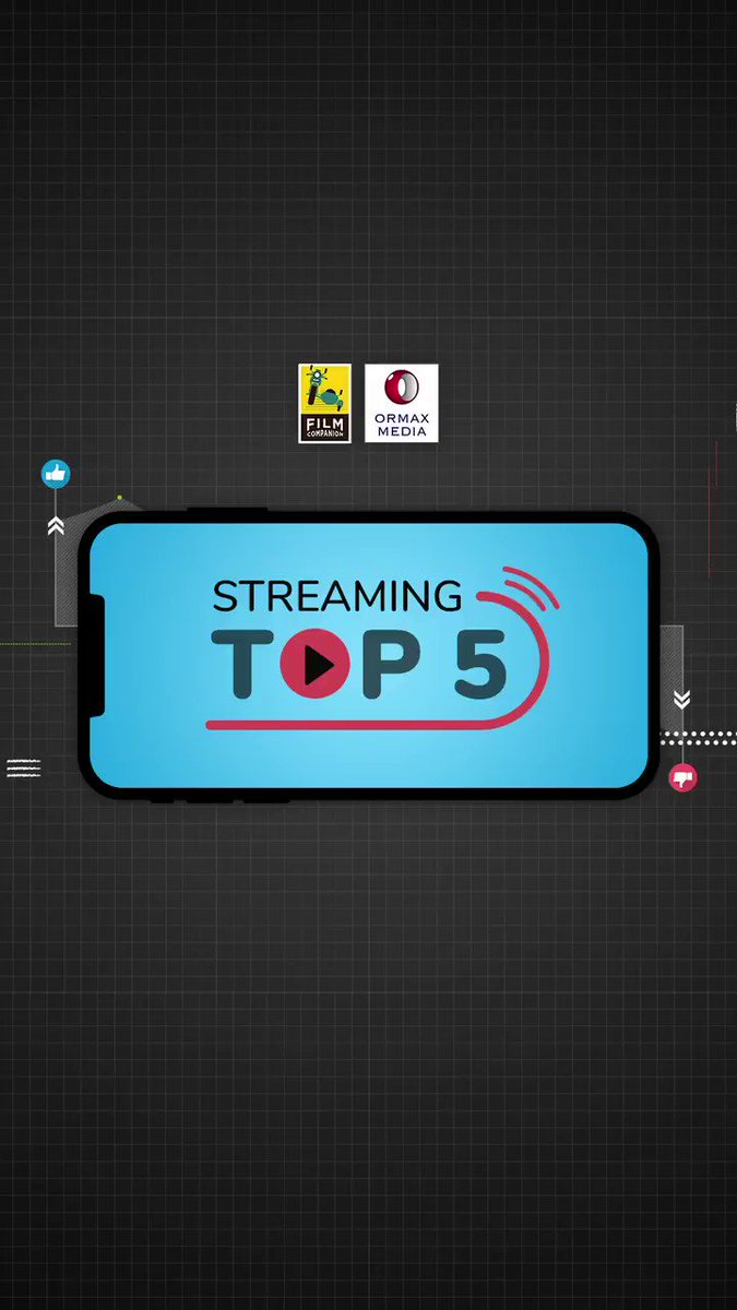 Streaming Top 5 powered by @OrmaxMedia  Which films and shows ranked highest on streaming platforms last week? Find out and tell us which one did you like the most! #CoolieNo1 #Bullets #NailPolish #TheMissingStone #CriminalJustice