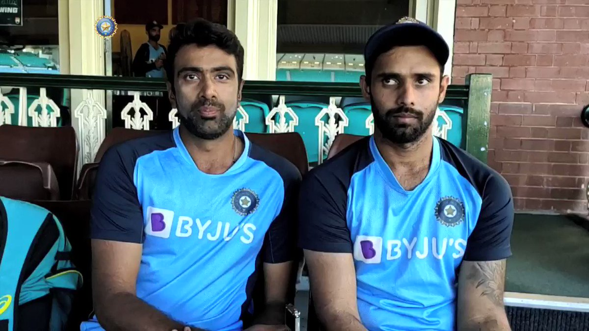 WATCH - @ashwinravi99 & @Hanumavihari relive #TeamIndia's valiant fightback.  Playing through pain, battling bruises, negotiating a top Australian bowling attack and taking #TeamIndia to a memorable draw. SCG stars relive it all here - by @Moulinparikh   📹