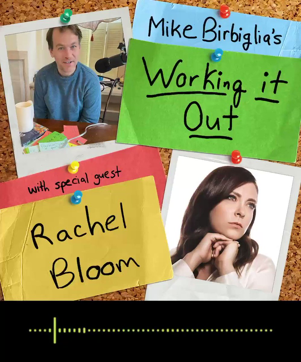 Today marks a historic day— one of my favorite working it out episodes of all time! I'm lucky enough to be joined by the great Rachel Bloom. (⁦@Racheldoesstuff⁩) So many laughs. So many great stories. It's a nice respite from the madness. ❤️