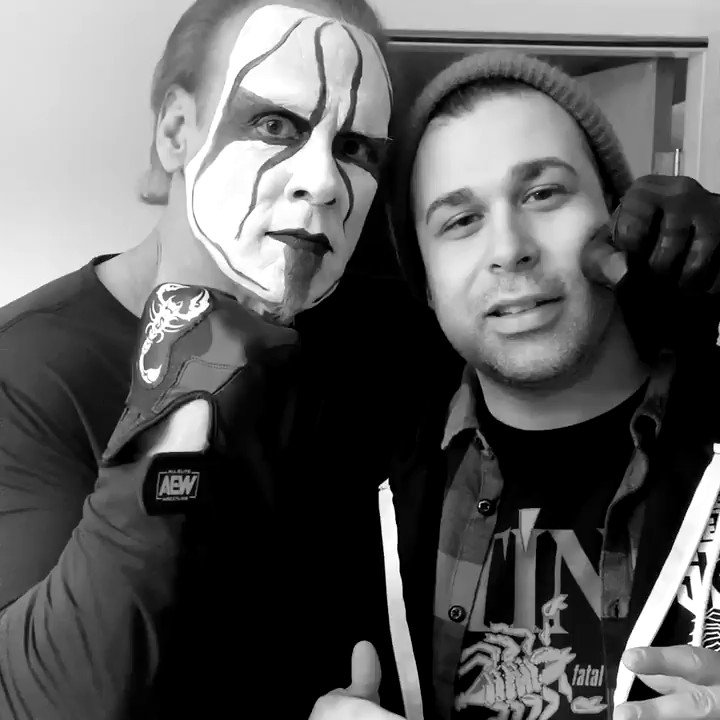 It was an honor to write this anthem for the icon @Sting. Also, thanks to @tonyschiavone24 for the inspiration.    @AEW @BetterNoise