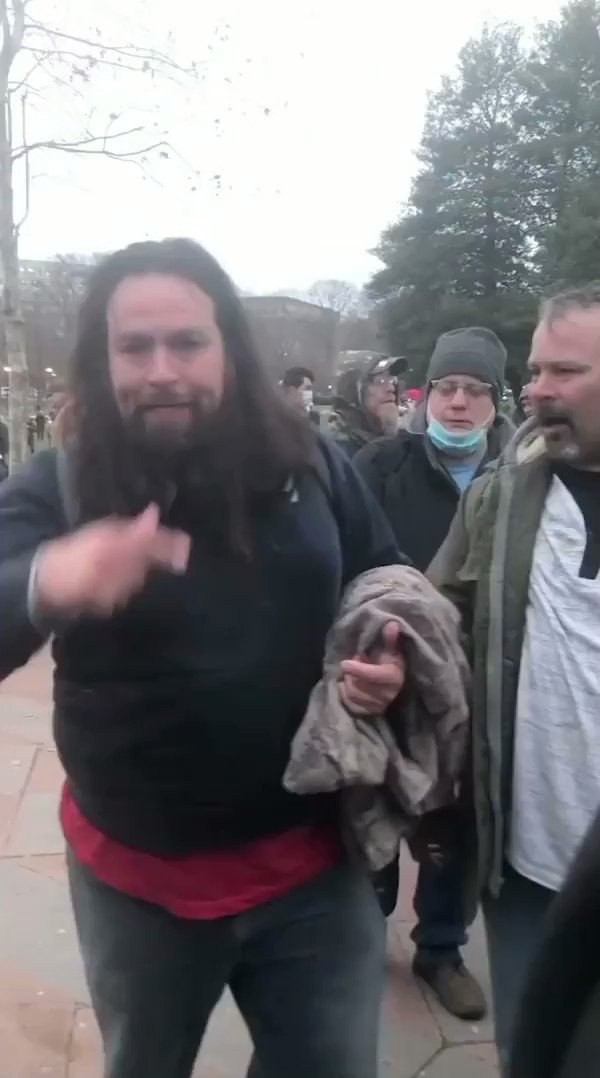 "JUST IN—The ""Caveman"" Peter Francis Stager (from Arkansas) is charged with violently beating a Metropolitan Police officer unconscious on the footsteps of the US Capitol in broad daylight. #CapitolRiot"