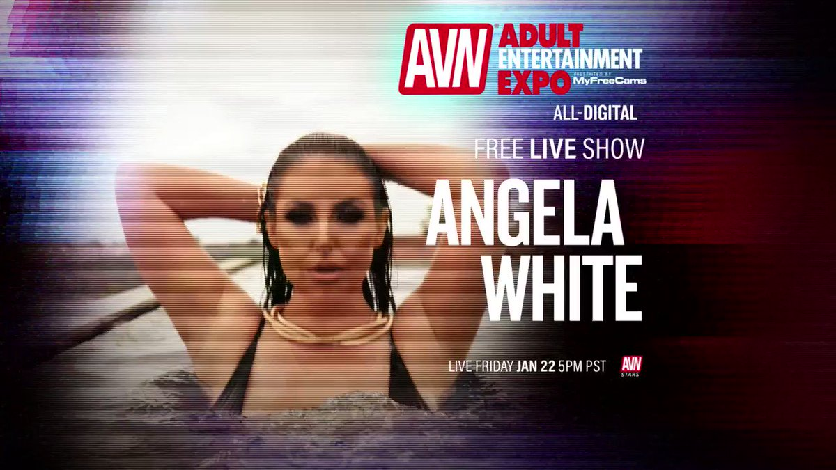 Join me for a FREE LIVE SHOW at 5pm PST on January 22 during the 2021 @AEexpo 💥 Make sure youre following me on #AVNStars 👉🏻 stars.avn.com/angelawhite