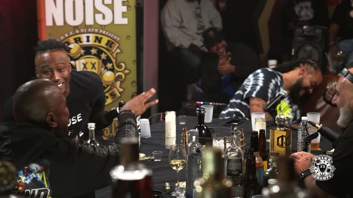 🤣 @OfficialCrowder came to @DrinkChamps & lost his mind 😂🎉🏆 New episode starring @iAmAthletePod @FredTaylorMade @BMarshall on @RevoltTV this Thursday! 🍾🏆 @Noreaga @DJEFN @DrinkChampSport 🎥 @iRossta #DrinkChamps