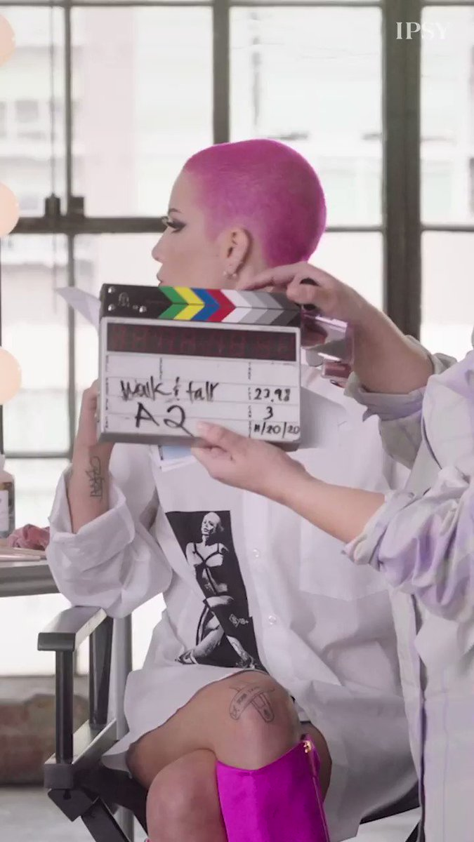 Replying to @IPSY: All the vibes on set with @halsey. 💕 February can't come soon enough! #IPSYGlamBagX
